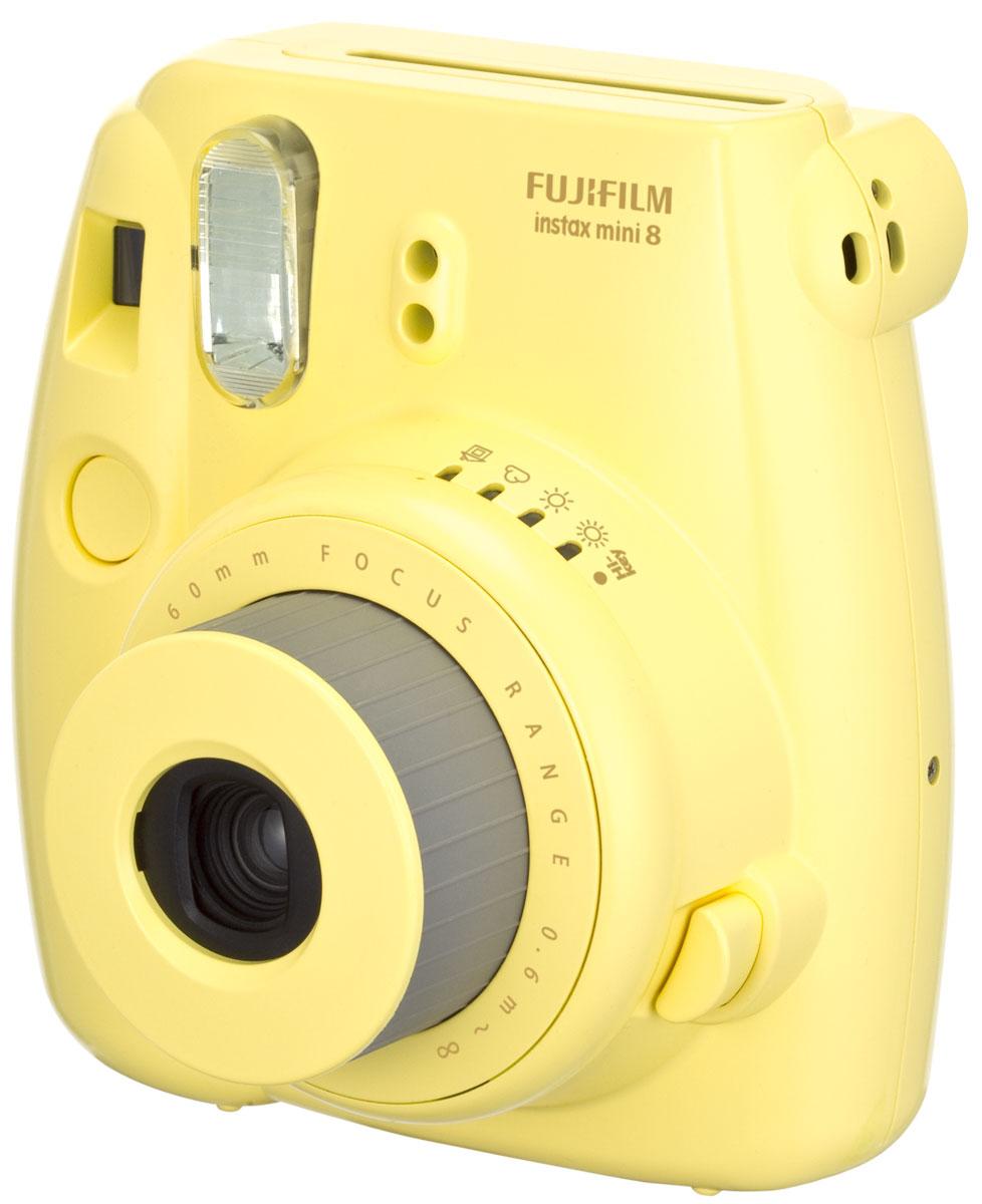 Fujifilm Instax Mini 8, Yellow фотоаппарат - Цифровые фотоаппараты