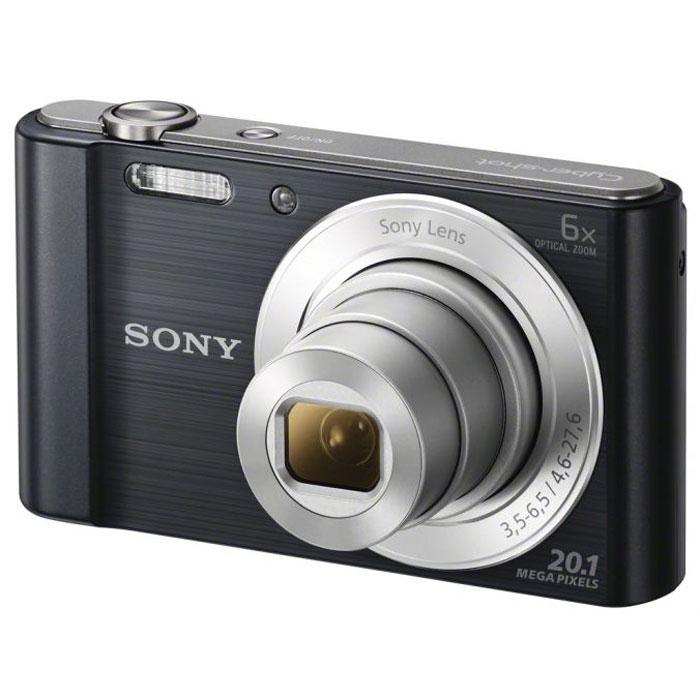 Sony Cyber-shot DSC-W810, Black цифровой фотоаппаратDSCW810B.RU3Компактная камера Sony Cyber-shot DSC-W810 с 6-кратным оптическим зумом.Камера W810 оснащена множеством функций для удобства съемки четких фотографий и видеороликов в разрешении HD. Делайте четкие снимки крупным планом с помощью 6-кратного оптического зума. В режиме вечеринки вы сможете с удобством делать прекрасные фотографии во время вечеринок. Без труда делайте красивые снимки в любых условиях. Матрица 20,1 Мпикс с высоким разрешением и встроенный автофокус обеспечивают четкие, детализированные кадры даже при быстром движении. Если объект съемки находится далеко, станьте к нему ближе с помощью 6-кратного оптического зума, который позволяет запечатлеть четкие снимки.Режим вечеринки отлично подходит для съемки на ночной вечеринке. Он сочетает улучшенную вспышку с оптимизированными настройками ISO, экспозиции и яркости цвета для ярких и четких снимков с вечеринки, длящейся всю ночь напролет. Кнопка Movie позволяет снимать видео в формате 720p HD и мгновенно воспроизводить его, давая возможность заново пережить эти моменты с друзьями. Встроенная стабилизация изображения SteadyShot компенсирует размытость из-за дрожания камеры и позволяет получить четкие изображения даже при зумировании. Благодаря режиму Sweep Panorama 360° изображение становится больше. Камера автоматически сшивает серию кадров на высокой скорости и создает панорамные снимки всей сцены целиком.