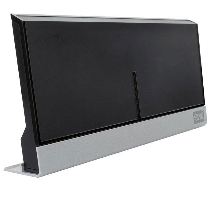 One For All SV9385 комнатная ТВ антеннаSV9385One For All SV9385 сочетает в себе функциональность и стильный дизайн. Антенна обеспечивает наилучший прием цифровом вещании (DVB-T/2) или даже Full HD и 3D. Стильный хай-тек корпус гармонично сочетается с современным домашним интерьером.