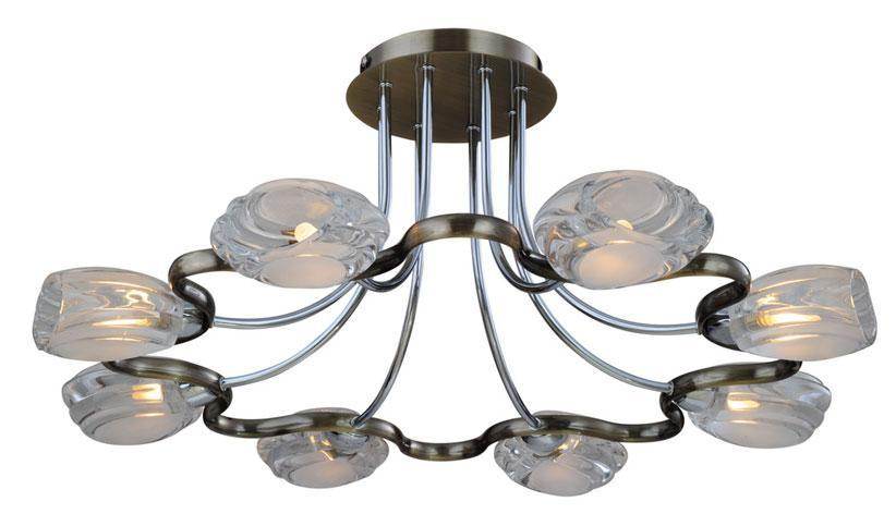 Потолочный светильник ST Luce SL197 132 08SL197 132 08Люстра SL197.132.08 - выполнена в классическом стиле. Для изготовления этой модели были использованы высококачественные материалы, такие как металл и стекло. Световой поток, направленный вниз, не создает теней и дает хорошее яркое освещение вашей комнаты.