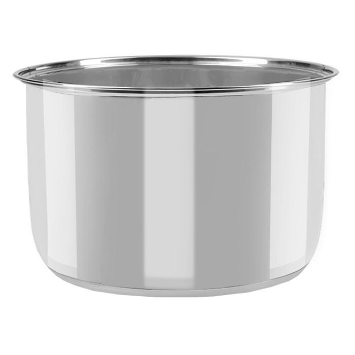 Redmond RB-S520 (RIP-S4), Silver чаша для мультиваркиRIP-S4Чаша Redmond RIP S4 изготовлена из высококачественной нержавеющей стали, практически не боится механических воздействий и не подвержена коррозии. Вы можете использовать чашу для приготовления блюд как в мультиварке, так и в духовом шкафу, или просто как обычную кастрюлю, которую можно ставить на электроплиту или газовую конфорку. RIP S4 очень удобна как дополнительная чаша к мультиварке Redmond для приготовления супов, в том числе крем-супов и супов-пюре - ведь в такой емкости Вы можете взбивать содержимое блендером, совершенно не опасаясь повредить внутреннее покрытие чаши. Вы сможете использовать чашу для приготовления блюд как в мультиварке, так и в духовом шкафу. Высота чаши 135 мм. Объем чаши в 5 литров, позволит приготовить обед для 2-5 человек.