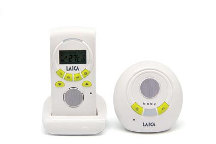 Беспроводная система аудио наблюдения за ребенком Laica BC2003 с возможностью измерения температуры в детской комнате и проигрывания мелодий на детском блоке.