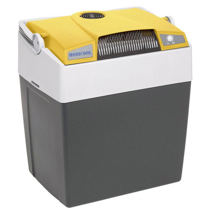 MOBICOOL G30, Yellow Grey термоэлектрический холодильник9103500790Термоэлектрический мобильный холодильник Mobicool G30 предназначен для сохранности продуктов питания и напитков в летний зной. Объем этого бытового прибора равен 29 литрам. Сумка холодильник охлаждает до 18°С ниже окружающей температуры. Высота сумки холодильника позволяет разместить бутылки объемом 2 литра. Этот холодильник можно использовать как в домашних условиях, так и в автомобиле благодаря наличию двух способов подключения (бортовая сеть автомобиля 12 В и сеть 220 В).Удобная ручка для переноскиУровень шума: 39 дБПотребление энергии: до 48 Вт при 12 В