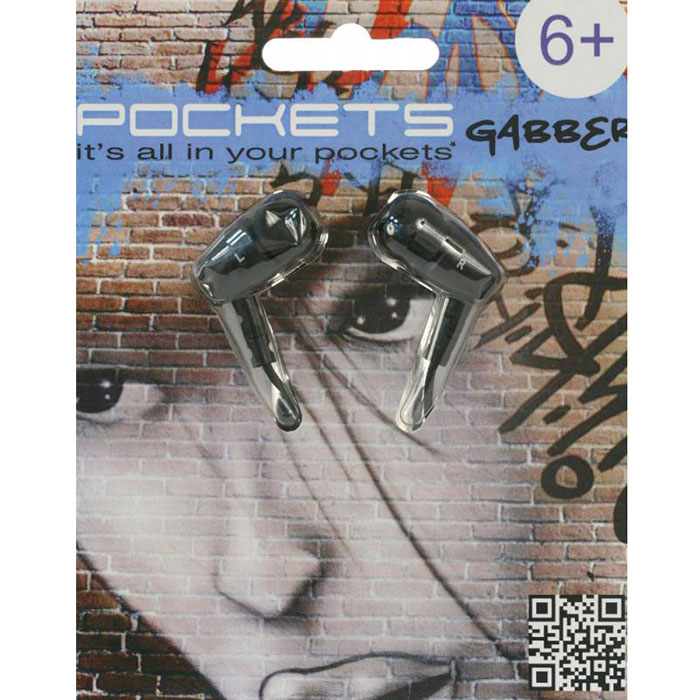 Pockets Gabber, Black наушникиSPGGAB-066Благодаря металлическому корпусу наушников Pockets Gabber вы можете слушать музыку нон-стоп в любых ситуациях. Удобный фиксирующий зажим надежно удерживает эти наушники на одежде. В комплект также входят 2 пары дополнительных ушных вкладышей.