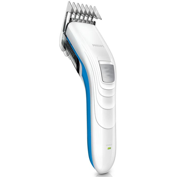 Philips QC5132/15 беспроводная машинка для стрижки волос с чехолом для храненияQC5132/15Машинка для стрижки волос Philips QC5132/15 оснащена мощным бесшумным мотором и может работать в беспроводном режиме. Также в комплект входит дополнительная филировочная насадка для создания естественного образа.Просто выберите и зафиксируйте нужную установку регулируемого гребня: от 3 мм до 21 мм (с шагом 2 мм). Либо используйте прибор без гребня для минимальной длины 0,5 мм. Закругленные лезвия и гребни плавно скользят по коже, не царапая ее, чтобы каждая стрижка была безопасной и приятной. Самозатачивающиеся лезвия из нержавеющей стали дольше остаются острыми, не требуют специального ухода и обеспечивают великолепные результаты стрижки.Благодаря легкости и компактности эта семейная машинка для стрижки волос очень удобна в использовании и подходит и для взрослых, и для детей. Эргономичная форма позволяет контролировать каждое движение прибора, обеспечивая полный комфорт. Съемная филировочная насадка позволяет стричь волосы до разной длины. Используйте эту насадку для создания естественной текстуры и придания объема стрижке.Лезвия из нержавеющей стали11 установок длины (от 3 до21 мм)Регулировка (шаг изменения длины): по 2 ммВремя зарядки: 8 часовОткидная головка для простоты очисткиЛезвия не требуют смазки