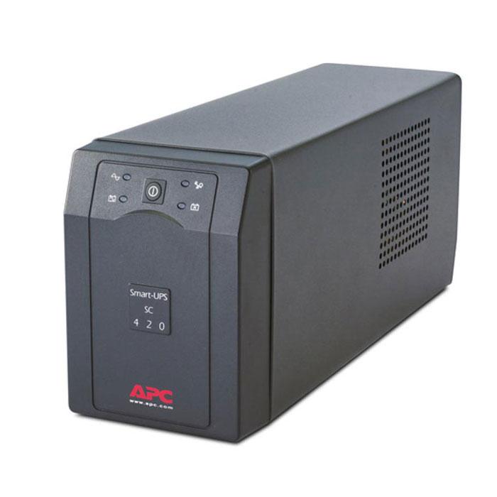 APC SC420I Smart-UPS 420VA ИБПSC420IИБП APC SC420I идеально подходит для небольших и средних компаний, стремящихся защитить свои серверы начального уровня и сетевое оборудование от нарушений и отключений электропитания. Отличительными чертами Smart-UPS SC являются батареи с возможностью замены в горячем режиме, время автономной работы сетевого уровня и встроенная защита линий передачи данных.