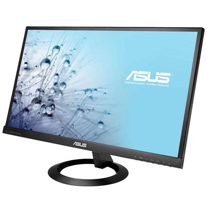 ASUS VX239H, Black монитор90LM00F0-B02670Монитор Asus VX239H обладает оригинальным безрамочным дизайном и высококачественной ЖК-панелью, изготовленной по технологии AH-IPS. Преимуществами данной модели являются широкие углы обзора, эргономичная подставка и порты HDMI/MHL.Широкий набор интерфейсов и встроенные динамики:VX239H предлагает богатый набор интерфейсов, включающий два разъема HDMI/MHL и D-Sub, что позволяет подключить к нему самые разные устройства, в том числе плееры Blu-ray и DVD, игровые консоли и т.д. Поддержка интерфейса MHL означает возможность воспроизведения контента с мобильного устройства при одновременной его подзарядке.ЖК-панель с широкими углами обзора:Благодаря ЖК-панели, изготовленной по технологии AH-IPS, монитор ASUS VX239H может похвастать большими углами обзора (на уровне 178°) как по горизонтали, так и по вертикали. Это означает, что изображение практически не претерпевает каких-либо искажений цветопередачи при изменении угла, под которым пользователь смотрит на экран. Помимо улучшенной цветопередачи ЖК-панели данного типа могут похвастать превосходной энергоэффективностью.Технологии Asus Smart Contrast Ratio и VividPixel:Технология ASCR (ASUS Smart Contrast Ratio) служит для автоматического изменения яркости подсветки в соответствии с характером текущего изображения. Она позволяет добиться высокой контрастности на уровне 80 000 000:1 и будет особенно полезной при просмотре фильмов. Максимальная же яркость монитора VX239H составляет 250 кд/м2. Для еще большего повышения качества картинки в мониторах Asus реализована технология VividPixel, ответственная за улучшение резкости изображения и насыщенности цвета.Технология Splendid Video Intelligence:Эксклюзивная технология Splendid Video Intelligence позволяет быстро настраивать монитор в соответствии с текущими задачами и условиями (игры, просмотр фото, работа в ночное время и т.д.), чтобы получить максимально качественное изображение. Всего доступно шесть вариантов настройки. Между ними мож