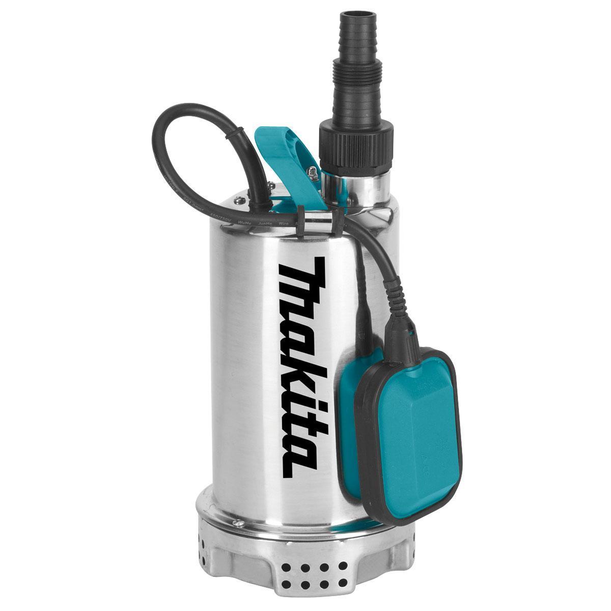 Насос погружной Makita PF1100, для чистой воды773654Погружной насос предназначен для чистой воды. Прочный корпус изготовлен из нержавеющей стали. Двойная резиновая прокладка обеспечивает продолжительный срок службы двигателя. Автоматическое отключения насоса осуществляется поплавком с регулируемым рычагом. Имеется прочная эргономичная ручка для транспортировки насоса. Выпускной патрубок 1/4. Тип защиты корпуса: IPX8,Пропускной размер твердых частиц: 5 мм,Минимальный уровень всасываемой жидкости: 25 мм,Максимальная высота подъема жидкости: 6,5 - 9 м, Максимальная производительность: 7200 - 15000 л/ч.