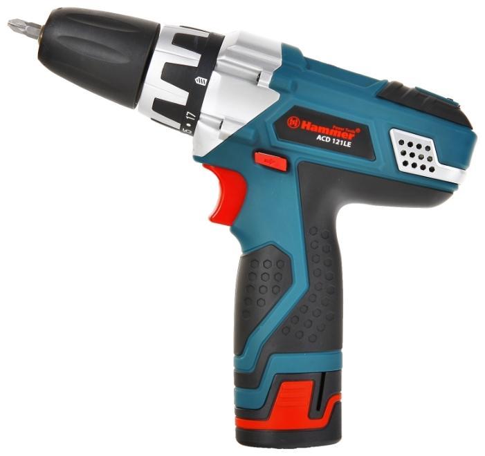 Дрель аккумуляторная HAMMER ACD121LE PREMIUM  аккум дрель hammer acd121le premium