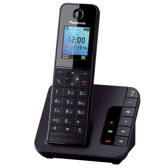 Panasonic KX-TGH220 RUB, Black DECT-телефонKX-TGH220RUBБеспроводной DECT-телефон Panasonic KX-TGH220 RU с автоответчиком. Обладает компактным дизайном корпуса и приятной подсветкой. В число полезных функций входит: автоматический определитель номера, широкий телефонный справочник на 200 записей, опция снижения уровня фонового шума и функция резервного питания. Данный телефон совместим с брелоком-искателем KX-TGA20RU, которой помогает найти любой предмет с помощью трубки.Брелок-искатель приобретается отдельноНочной режимЭко-режим
