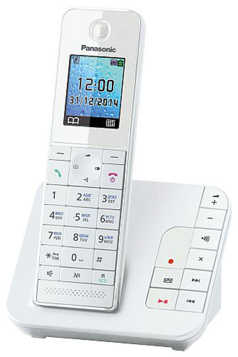 Panasonic KX-TGH220 RUW, White DECT-телефон