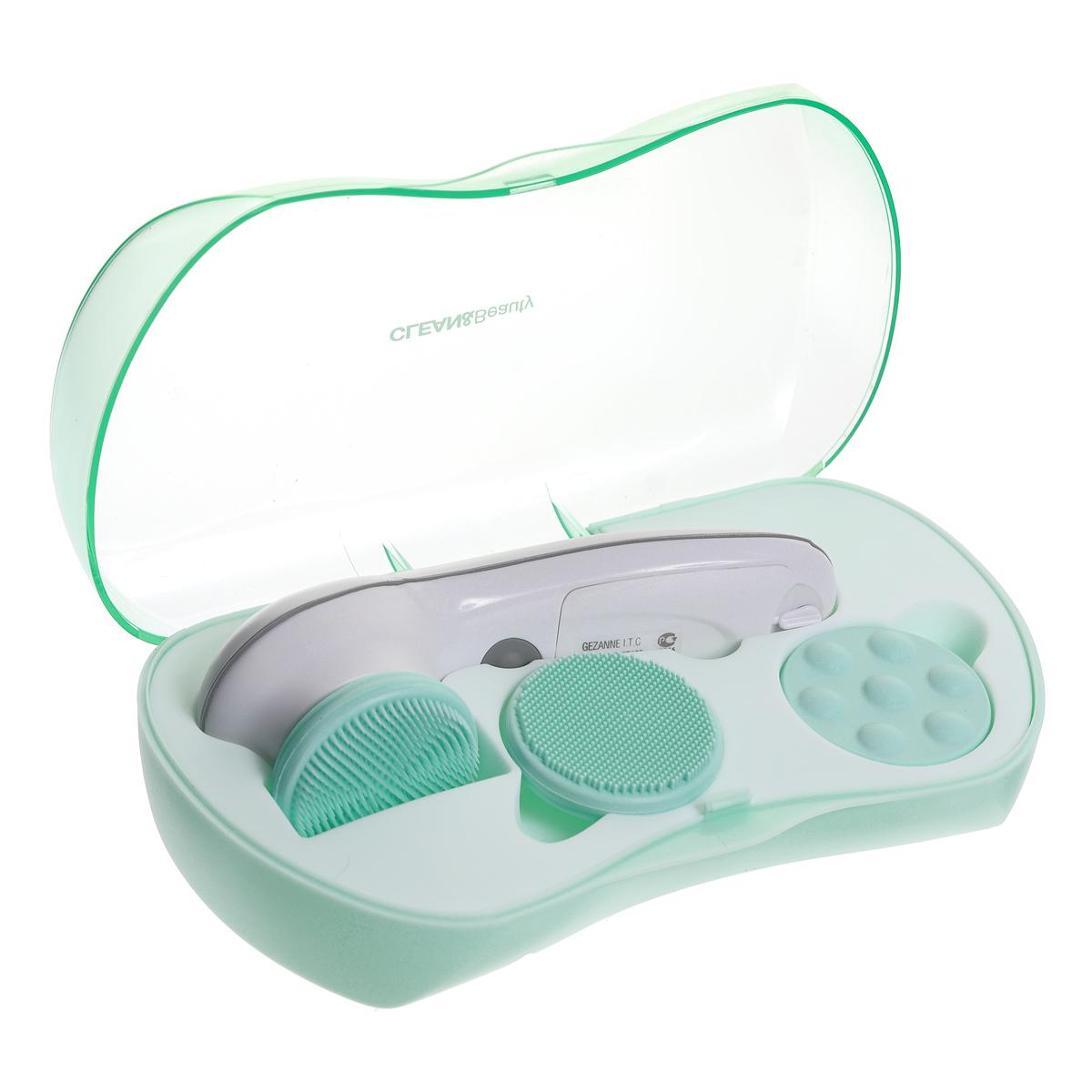 Gezatone Аппарат для чистки лица и ухода за кожей Clean&BeautyAMG1081301123Косметологи утверждают, что залог красоты и молодости кожи - это ее регулярное и полноценное очищение. Но косметические средства очищают кожу лишь поверхностно, смывая лишь загрязнения и остатки макияжа. Чтобы полноценно очистить поры и удалить ороговевшие частички кожи, необходим прибор Clean&Beauty Gezatone. Уникальные щеточки из гипоаллергенного силикона мягко и нежно удаляют загрязнения не только с поверхности кожи, но и из пор, а насадка для массажа обеспечивает полноценный уход за кожей. Достаточно включить аппарат для чистки лица AMG108 в программу ежедневного ухода - и вы поразитесь, насколько более свежей, гладкой и молодой выглядит кожа.Особенности прибора для очищения кожи AMG108:В прибор входят три сменные насадки для максимально эффективного очищения и массажа кожи лица, шеи и декольте. Насадки выполнены из силикона - материала, не вызывающего аллергии и раздражения на коже. Крупнозернистая насадка-щеточка предназначена для глубокого очищения пор, она удаляет остатки косметики и загрязнения, решает проблему черных точек. Мелкозернистая насадка-щеточка проводит полноценную пилинговую процедуру, улучшает цвет лица и выравнивает тон кожи. Массажная насадка усиливает эффективность косметики, улучшает микроциркуляцию крови, повышает тонус и упругость кожи.В аппарате предусмотрено две скорости вращения насадок, низкая - для чувствительной и нормальной кожи, высокая - для нормальной, комбинированной и проблемной кожи.В комплект входит также футляр для переноски и хранения прибора. чтобы вы могли его брать с собой в поездки, и везде ухаживать за кожей, как дома.Прибор оснащен подставкой, благодаря чему его удобно хранить и размещать в ванной комнате, на трюмо и т.д.Подарите своей коже возможность дышать, регулярно очищайте ее от загрязнений, остатков косметики и пыли, и она отблагодарит вас долгой молодостью и свежестью!Противопоказания:аллергические реакции кожи;солнечные ожоги;нарушени