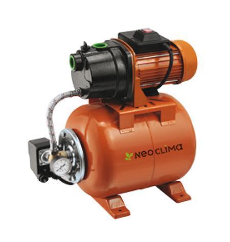 Neoclima GP 600/20 насосная станция.20626Насосная станция Neoclima GP 600/20 - это поверхностный насос-автомат, оснащенный напорным гидробаком и автоматической системой управления. Благодаря износостойким и высокопрочным материалам достигается высокая прочность агрегата и эффективная, длительная, бесперебойная эксплуатация. Защита от перегрева электродвигателя осуществляется благодаря встроенному вентилятору.