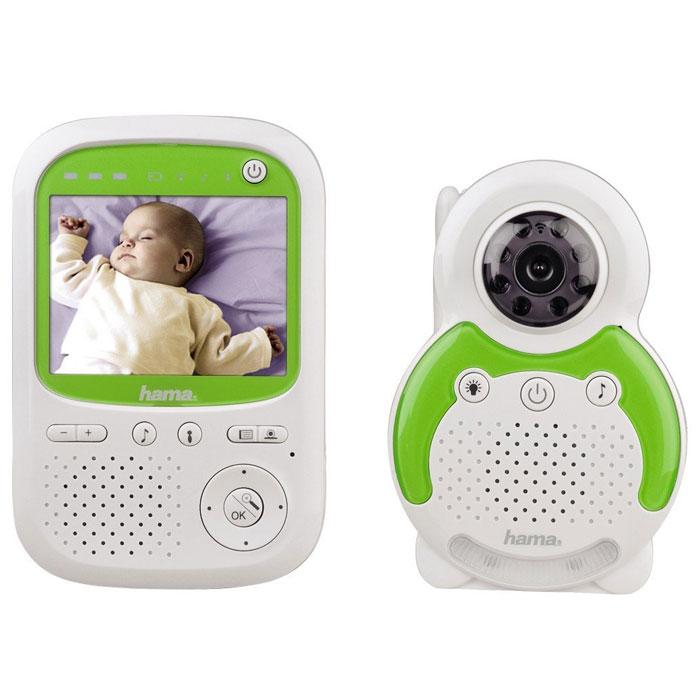 Видеоняня Hama BM150 - это устройство для видеонаблюдения за детьми или лицами, нуждающимися в уходе, больными или пожилыми людьми. Режим ожидания позволяет экономить энергию: если в течение длительного периода времени не слышен звук, устройство автоматически переключается в режим ожидания. В случае плохих условий приема сигнала на приемнике срабатывает звуковое предупреждение. Блок ребенка оснащен 8 инфракрасными лампами для сьемки в темноте. Если фотодатчик определит низкий уровень освещенности, прибор автоматически включает ИК-лампы, и на дисплее блока родителей появляется черно-белое изображение, транслируемое видеокамерой блока ребенка. Чтобы успокоить ребенка, можно воспользоваться громкоговорящей связью. Радиосвязь между блоками односторонняя, поэтому, чтобы услышать ребенка, необходимо отпустить кнопку на блоке родителей. На задней панели блока ребенка находится датчик термометра, данные с которого отображаются в верхней области дисплея блока...