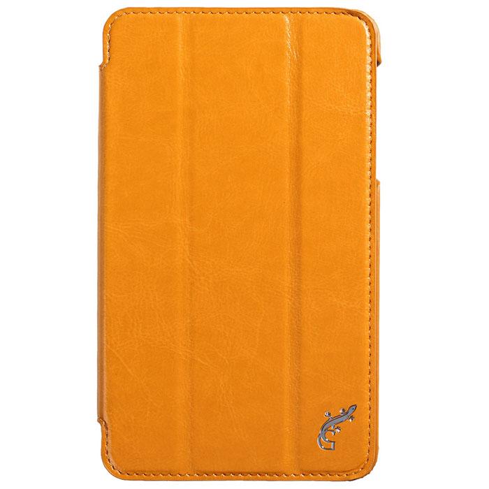 G-case Slim Premium чехол для Samsung Galaxy Tab 4 7.0, OrangeGG-347Стильный чехол-книжка G-case Slim Premium для Samsung Galaxy Tab 4 7.0 представляет собой очень полезный аксессуар,основная функция которого защищать планшет от неблагоприятных внешних воздействий. Он выполнен в очень элегантном стиле из высококачественной кожи. Чехол поможет при ударах и падениях, смягчая удары, не позволяя образовываться на корпусе царапинам и потертостям. Он идеально повторяет формы планшета и при этом надежно защищает каждую грань устройства. Все разъемы остаются свободны, а доступ к экрану осуществляется легким движением руки. Кроме того, чехол G-Case Slim Premium можно использовать в качестве двухпозиционной подставки.