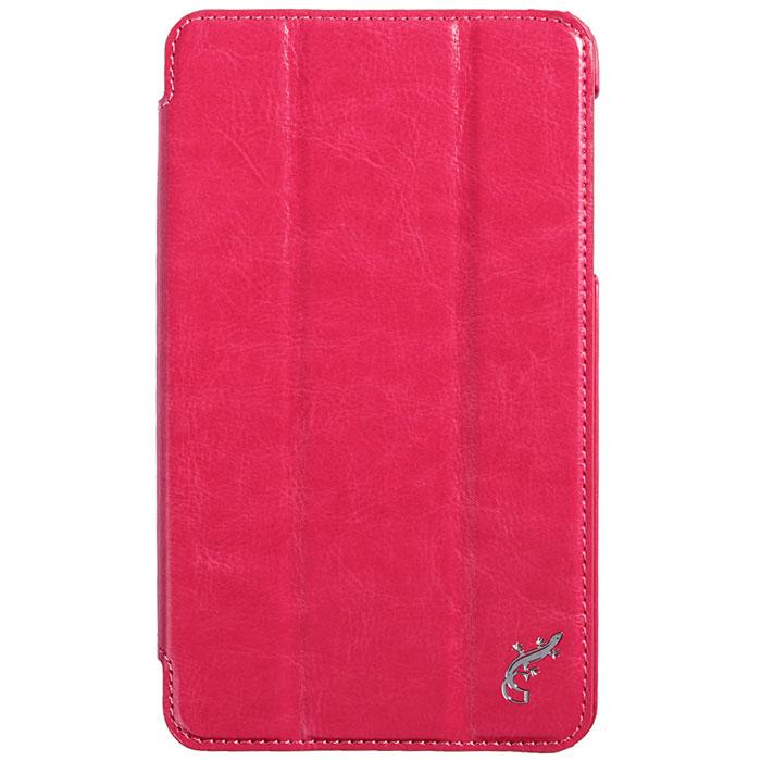 G-case Slim Premium чехол для Samsung Galaxy Tab 4 7.0, PinkGG-343Стильный чехол-книжка G-case Slim Premium для Samsung Galaxy Tab 4 7.0 представляет собой очень полезный аксессуар,основная функция которого защищать планшет от неблагоприятных внешних воздействий. Он выполнен в очень элегантном стиле из высококачественной кожи. Чехол поможет при ударах и падениях, смягчая удары, не позволяя образовываться на корпусе царапинам и потертостям. Он идеально повторяет формы планшета и при этом надежно защищает каждую грань устройства. Все разъемы остаются свободны, а доступ к экрану осуществляется легким движением руки. Кроме того, чехол G-Case Slim Premium можно использовать в качестве двухпозиционной подставки.