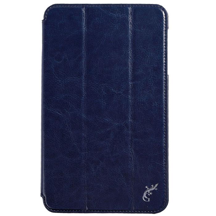 G-case Slim Premium чехол для Samsung Galaxy Tab 4 8.0, Dark BlueGG-368Стильный чехол-книжка G-case Slim Premium для Samsung Galaxy Tab 4 8.0 представляет собой очень полезный аксессуар,основная функция которого защищать планшет от неблагоприятных внешних воздействий. Он выполнен в очень элегантном стиле из высококачественной кожи. Чехол поможет при ударах и падениях, смягчая удары, не позволяя образовываться на корпусе царапинам и потертостям. Он идеально повторяет формы планшета и при этом надежно защищает каждую грань устройства. Все разъемы остаются свободны, а доступ к экрану осуществляется легким движением руки. Кроме того, чехол G-Case Slim Premium можно использовать в качестве двухпозиционной подставки.