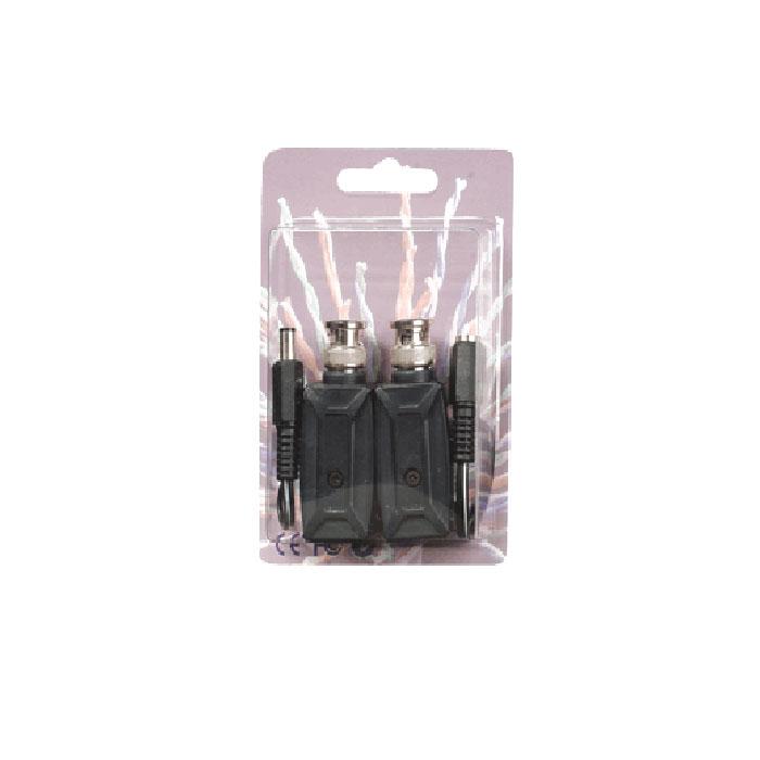 Video Control VC-PVDA комплект для передачи видеосигнала и питания по витой пареVC-PVDAVideo Control VC-PVDA представляет собой комплект, состоящий из пассивного приемника и передатчика видеосигнала (разъем стандарта BNC) и питания (стандартный разъем DC) через неэкранированную витую пару (сетевой кабель категории 5), использующими стандартные разъемы RJ-45. Данное изделие произведено специально для компании Video Control на заводе компании SC&T на Тайване.Для ввода или вывода видео сигнала используется разъем BNC, для передачи питания используется разъем DC, для передачи сигналов между устройствами используется витая пара со стандартным разъемом RJ-45.Данное устройство является пассивным приемником/передатчиком (не требует внешнего питания) для передачи видео сигнала и питания на расстояние в 400 метров для цветного сигнала или 600 метров для ч/б.Данный комплект - это идеальное и дешевое решение, которое просто в установке и позволит получить существенную экономию путем использования дешевого кабеля (по сравнению с системами, использующими коаксиальный или оптический кабель), а также позволит сэкономить на проводах несущих питание для камер.