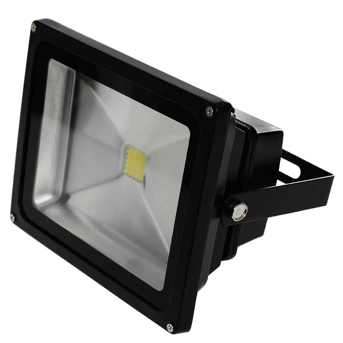 Прожектор Luck & Light LF30WblackA7847PL-2ABХолодный белый свет