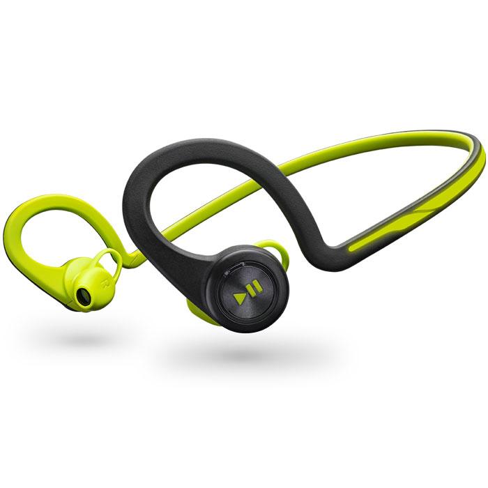 Plantronics BackBeat FIT, Green Bluetooth-гарнитура200460-05Каким бы видом спорта вы ни занимались, вас всегда будут сопровождать гибкие и устойчивые к влаге беспроводные стереонаушники Plantronics BackBeat FIT. Благодаря великолепному качеству звучания вы четко слышите музыку, а дизайн, разработанный с учетом требований безопасности, позволяет слышать окружающие звуки и быть заметным в темноте. Многофункциональный нарукавник защищает ваш смартфон во время движения и служит для хранения наушников после тренировки - идеально подходит для занятий спортом.Удобные, надежные и созданные для активного образа жизни наушники BackBeat FIT обладают гибкой конструкцией, удобно фиксируются и остаются на месте во время любых упражнений. Легко доступные элементы управления, расположенные на ухе, позволяют вам двигаться и управлять воспроизведением музыки или телефонными вызовами, а неопреновый нарукавник, входящий в состав комплекта, надежно защищает ваш смартфон.BackBeat FIT идеально подходят как для тренировок в спортзале, так и для занятий на отрытом воздухе - днем или ночью. Дизайн наушников, разработанный с учетом требований безопасности, и светоотражающее покрытие позволяют пользователям слышать окружающие звуки и быть заметными в темноте. Они надежно защищены от воздействия пота и влаги благодаря своему дизайну и технологии P2i. В процессе производства на наушники наносится невидимое нанопокрытие P2i, обеспечивающее водоотталкивающие свойства, благодаря чему наушники работают еще более надежно в любых условиях.Вы сможете спокойно тренироваться в течение недели, поскольку наушники гарантируют до 8 часов работы в режиме прослушивания музыки (до 6 часов в режиме разговора) и 14 суток в режиме ожидания. Когда BackBeat FIT оказываются вне зоны действия телефона или планшета, включается энергосберегающий режим гибернации DeepSleep, который позволяет сохранить заряд наушников в течение шести месяцев.
