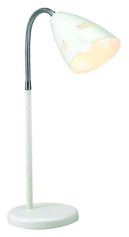 Настольный светильник MarkSLojd VEJLE 197812197812197812 Настольная лампа, VEJLE, белый+Хром, E14 1*40WW