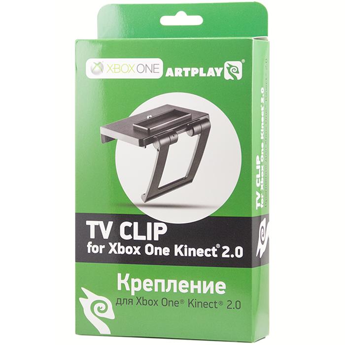 Artplays Крепление для сенсора Xbox One Kinect 2.0 (цвет: черный)Х1-002Крепление Artplays TV Clip позволяет крепить сенсор Xbox One Kinect 2.0 к любому плоскоэкранному монитору или телевизору толщиной до 11 см, сохраняя при этом полную функциональность.
