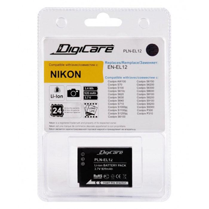 DigiCare PLN-EL12 аккумулятор для Nikon CoolPixPLN-EL12DigiCare PLN-EL12 - надежная и легкая аккумуляторная батарея для вашей фотокамеры. Она заменяет оригинальные аккумуляторы EN-EL12. Данная модель отличается быстрым процессом зарядки и продолжительным временем автономной работы.