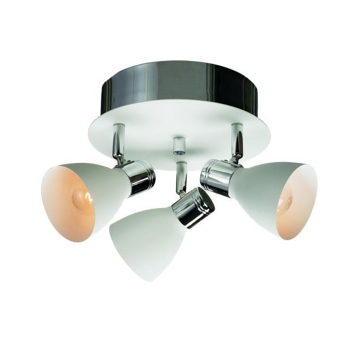 Настенно-потолочный светильник MarkSLojd HUSEBY 103068103068103068 Светильник настенно-потолочный, HUSEBY, белый-хром, E14 3*40WW