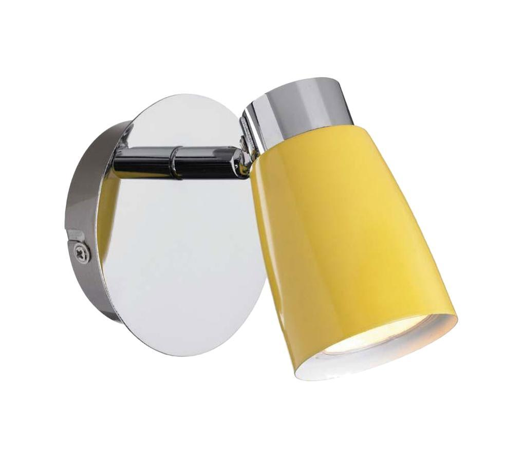 Настенно-потолочный светильник MarkSLojd VEDDIGE 103049103049103049 Светильник настенный, VEDDIGE, хром-желтый, GU10 1*7W