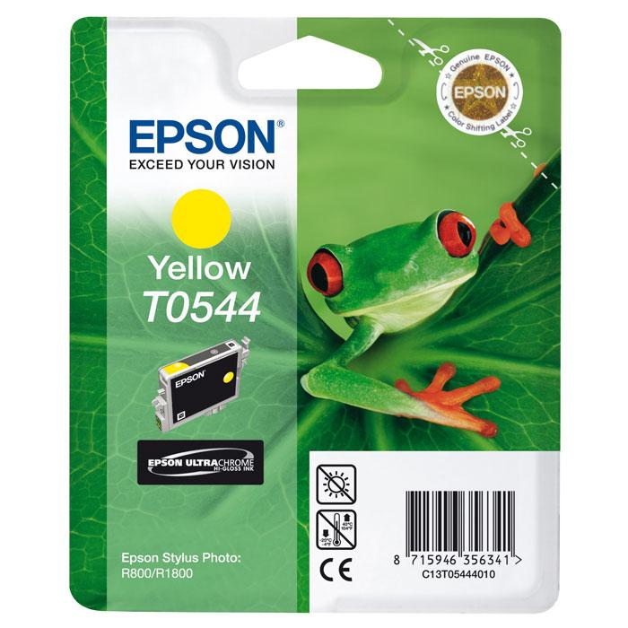 Epson T0544 (C13T05444010), Yellow картридж для Stylus Photo R800/R1800C13T05444010Картридж Epson T054 с цветными чернилами для струйной печати. Качество устройств Epson и расходных материалов гарантируют четкую печать и устойчивость к выцветанию. Картридж прост в установке и использовании.