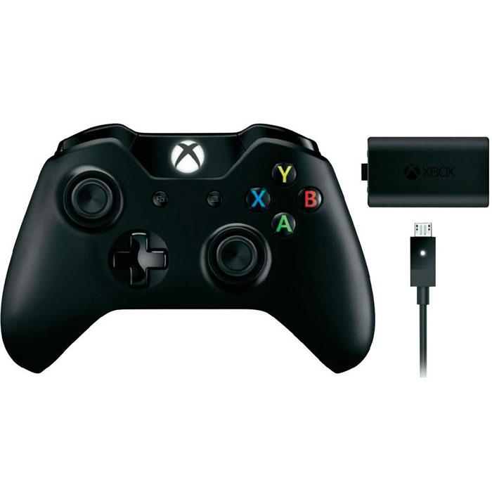Беспроводной геймпад для Xbox One + аккумулятор + зарядка, Microsoft
