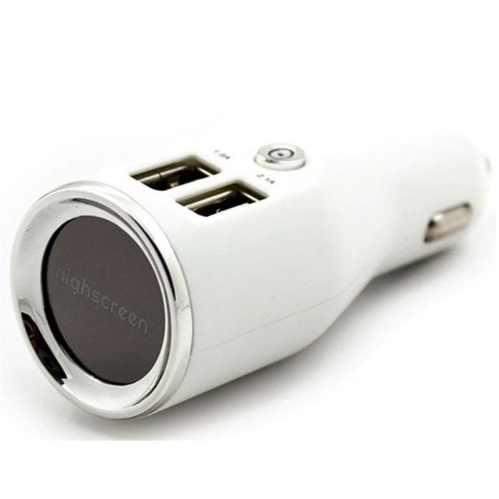 Highscreen Autostorm X31, White автомобильное ЗУ2USB_whiteОригинальное автомобильное зарядное устройство Highscreen Autostorm X31 c 2 USB портами. Общая мощность составляет 3,1А (1А+2,1А). Зарядное устройство оснащено кнопкой включения/выключения, что позволяет вам отключить устройство не вынимая его из прикуривателя. Highscreen Autostorm X31 - полезное и эффективное зарядное устройство, рекомендовано производителем для зарядки в автомобиле смартфонов Highscreen.