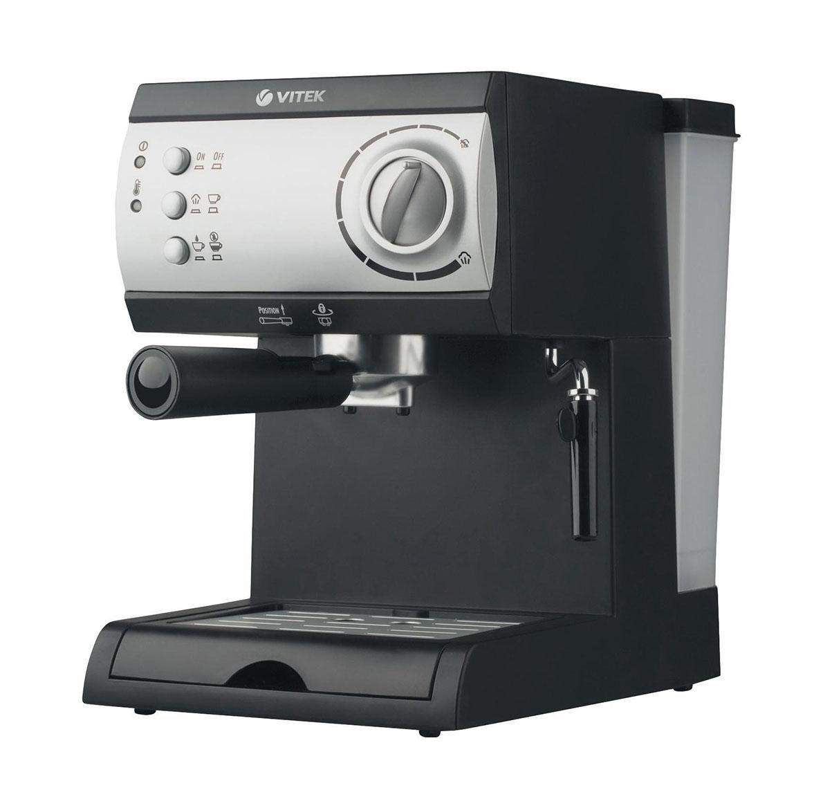 Кофеварка Vitek VT-1511 BlackVT-1511 BlackКофеварка, съемная емкость для воды, мерная ложка, инструкция