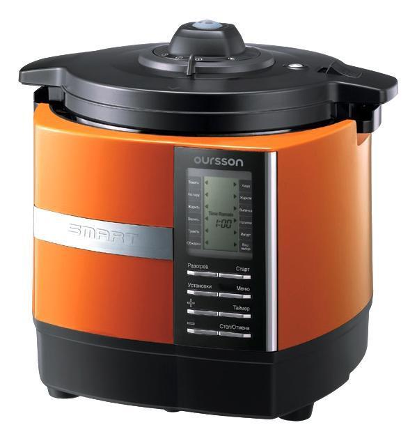 Oursson MP5005PSD/OR, Orange мультиварка-скороваркаMP5005PSD/ORУВАЖАЕМЫЕ КЛИЕНТЫ! Обращаем ваше внимание на тот факт, чтообъем чаши указан максимальный, с учетом полного наполнения до кромки. Шкала на внутренней стенке имеет меньший литраж.