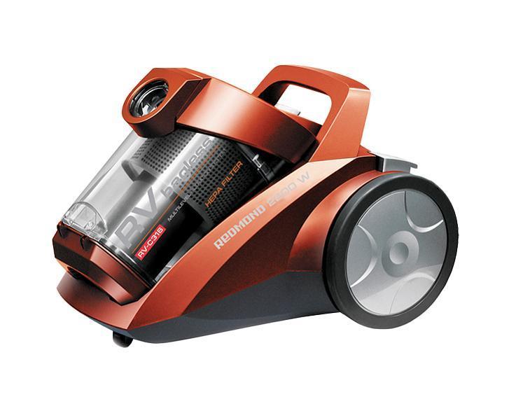 Redmond RV-С316, Red пылесосRV-С316 redREDMOND RV-C316 — современный бытовой пылесос контейнерного типа. Двойная циклоническая система фильтрации обеспечивает постоянную мощность всасывания на протяжении всей уборки, а фильтр тонкой очистки воздуха на выходе задерживает мельчайшие частицы, которые могут вызывать аллергические реакции у чувствительных к пыли людей. На корпусе прибора расположен регулятор, который позволяет установить оптимальную мощность всасывания, благодаря чему вы можете как тщательно пропылесосить места, требующие глубокой очистки (ковры, напольные покрытия в домах с животными), так и бережно очистить предметы интерьера, требующие деликатного ухода (шторы, абажуры). Пластиковый контейнер для пыли легко снимается и чистится — больше никаких хлопот со сменными мешками!
