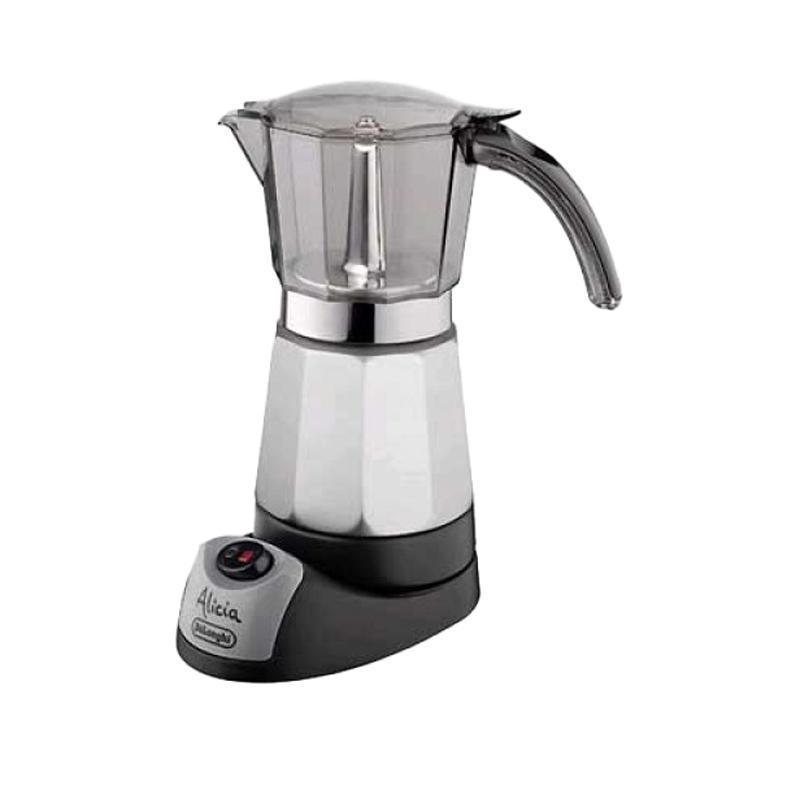 DeLonghi EMK 9DeLonghi EMK 9Электрическая кофеварка DeLonghi EMK 9 с ручным управлением. Кофе никогда не перельется, поскольку кофеварка выключается автоматически и сохраняет кофе горячим и вкусным в течение 30 минут. Произведенная в полном соответствии с высочайшими стандартами качества и спроектированная до мельчайших деталей, электрическая кофеварка DeLonghi EMK 9 не будет просто банальным предметом обстановки, а станет составной частью Вашего индивидуального интерьера.