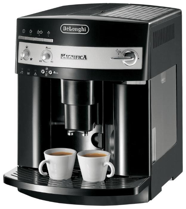 DeLonghi ESAM 3000 BESAM 3000.B Цвет: Черный Емкость контейнера для кофе: 200 г Емкость для воды: 1.8 л Максимальное давление: 15 Бар Потребляемая мощность: до 1350 Вт