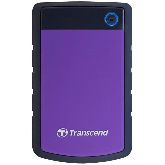 Transcend StoreJet 25H3 2TB, Purple внешний жесткий диск (TS2TSJ25H3P)TS2TSJ25H3PПортативный жесткий диск StoreJet 25H3 - это надежное устройство с отличными рабочими характеристиками USB 3.0, емкостью для хранения до 2 ТБ, что позволит хранить около 200 DVD фильмов, и 3-ступенчатой антиударной системой защиты, отвечающей жестким требованиям испытаний U.S. на падение. Устройство StoreJet 25H3 обладает высокой скоростью передачи информации до 90MB/сек., что делает его идеальным выбором для любителей высокой скорости. Передача изображений DVD фильмов возможна за менее, чем 1 минуту!Устройство StoreJet 25H3 отличает прекрасный дизайн - антискользящий резиновый корпус фиолетового или синего цвета, а также высокая степень защиты благодаря укрепленному внешнему кейсу и внутренней системе подвески, что предохраняет устройство от ударов. Также, устройство снабжено кнопкой для удобного быстрого автоматического резервного копирования в одно нажатие, что сделает процесс синхронизации данных и резервного копирования максимально быстрым и удобным.Совместимость с суперскоростным USB 3.0, а также с USB 2.0 с обратной стороныИзносостойкий противоударный внешний силиконовый корпусУсовершенствованная система внутренней подвески доя защиты жесткого дискаБольшая емкость для хранения информацииПростой режим работы Easy Plug and Play - нет необходимости в драйверахЭнергосберегающий спящий режимКнопка автоматического резервного копирования в одно нажатиеКомплектуется ПО Transcend Elite для защитыLED индикатор статуса передачи данныхДополнительно:• Буфер: 8 МБ• Совместимость: Windows XP/Vista/Win 7, Mac OS 9.0 и более поздние версии, Linux Kernel 2.4 и более поздние версии• Ударостойкий корпус