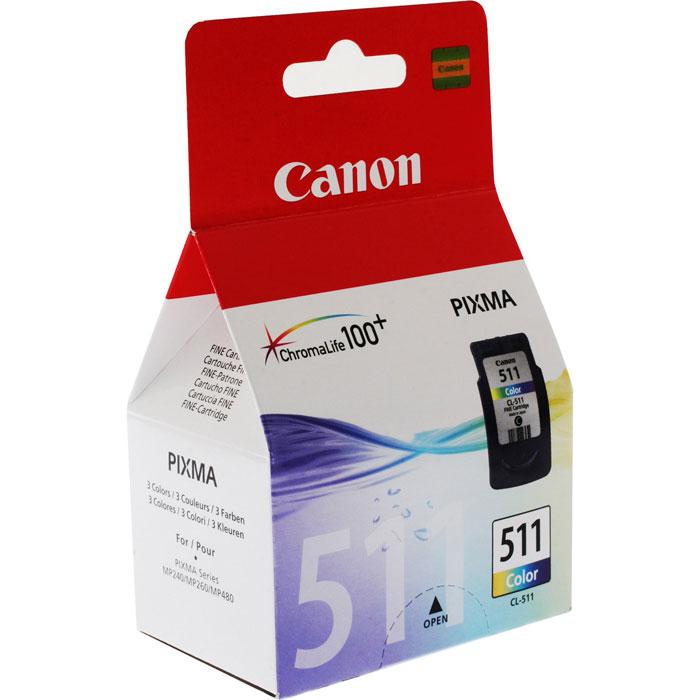 Canon CL-511CMY цветной картридж для струйных МФУ/принтеров2972B007Canon CL-511 - цветной CMY-картридж водорастворимых чернил, который содержит печатающую головку.Скорость печати фотографии в край (без полей) формата 10 х 15 см лабораторного качества приведена при печати шаблона ISO/JIS-SCID №2 при настройках драйвера по умолчанию с использованием глянцевой фотобумаги Canon Photo Paper Plus Glossy II.Скорость печати документов (изображений в минуту) на простой бумаге измеряется на основе стандарта измерения скорости печати цифровых устройств ISO/IEC 24734.