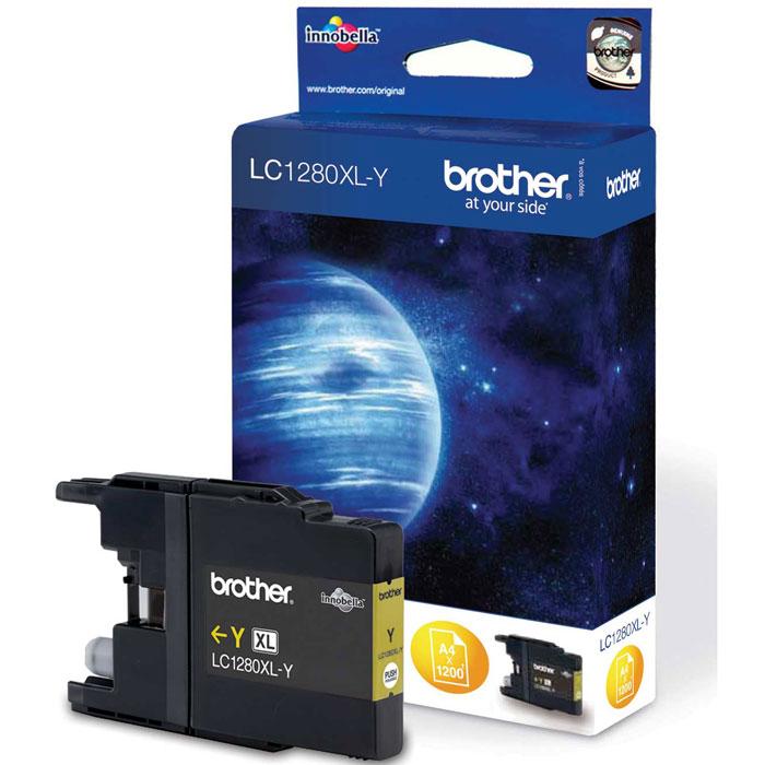 Brother LC1280XLY, Yellow струйный картридж для MFC-J6510DW, MFC-J69010DWLC1280XLYПри использовании оригинальных картриджей Brother LC-1280XL вы всегда будете получать впечатляющие