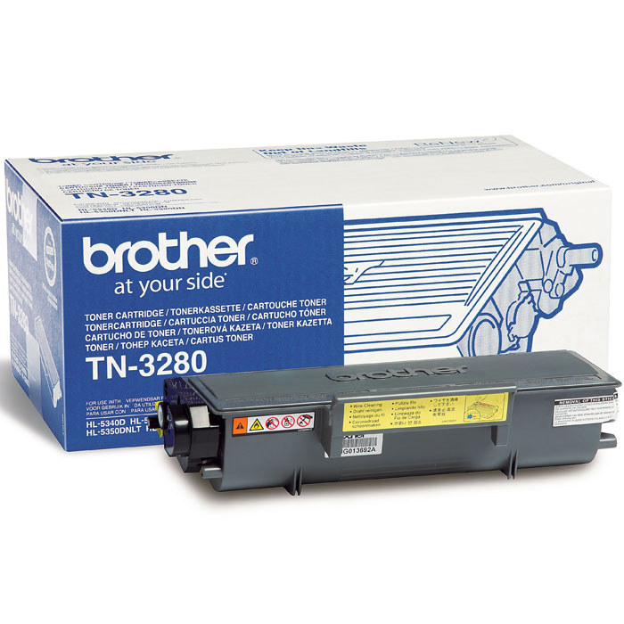 Brother TN3280 тонер картридж для HL-5340D/5350DN/5370DWTN3280Оригинальный картридж с тонером Brother TN-3280 на 8000 копий для лазерных принтеров Brother HL-5340D/5350DN/5350DNLT/5370DW/5380DN для DCP-8070D/8085DN для MFC-8370DN/8380DN/8880DN/8890DW.
