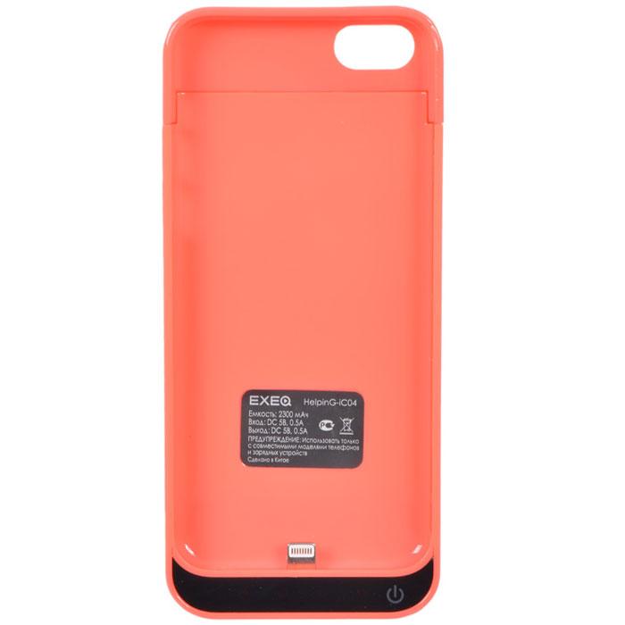 EXEQ HelpinG-iC04 чехол-аккумулятор для iPhone 5/5s/5c, Pink (2300 мАч, клип-кейс)HelpinG-iC04PIЧехол EXEQ HelpinG-iC04 не только надежно защитить ваш смартфон, но и прекрасно подойдет к цветовой гамме корпуса смартфона. Кроме яркой цветовой гаммы EXEQ HelpinG-iС04 также имеет компактный и эргономичный дизайн, благодаря которому его присоединение к смартфону практически не повлияет на габариты последнего. Но самое главное, благодаря чехлу-аккумулятору ваш iPhone сможет работать в два раза дольше! Привлекательный дизайн, компактные габариты и увеличение автономной работы телефона – что еще нужно для идеального аксессуара к вашему смартфону?Зарядка аккумулятора чехла происходит от зарядного устройства телефона и при этом телефон не обязательно извлекать из чехла. Достаточно просто подключить зарядное к чехлу и нажать на кнопку питания на чехле – и начнется зарядка телефона. Если кнопку питания не нажимать, то начнется зарядка чехла-аккумулятора. Приятным дополнением чехла EXEQ HelpinG-iС04 также является наличие встроенной подставки, которая сможет поддерживать ваш смартфон в горизонтальном положении, например, для просмотра фильма или чтения электронных книг.