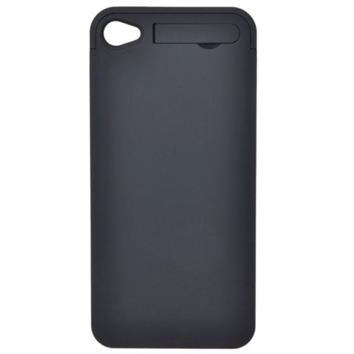 EXEQ HelpinG-iC01 чехол-аккумулятор для iPhone 4/4S, Black (1900 мАч, клип-кейс)HelpinG-iC01 BLЧехол Exeq HelpinG-iC01 надежно защитит заднюю и боковые панели вашего смартфона от ударов и царапин, а встроенный аккумулятор обеспечит дополнительную подпитку батареи в самые необходимые моменты. При этом чехол-аккумулятор имеет настолько компактные размеры, что его подсоединение практически не повлияет на габариты самого смартфона. Да и весит чехол HelpinG-iC01 всего 65 г, что также не сильно утяжелит ваш любимый смартфон.В качестве приятного дополнения чехол-аккумулятор имеет выдвижную подставку. Специальная конструкция чехла с выдвижной верхней частью позволит удобно и надежно поместить телефон в чехол, а при необходимости легко и быстро достать телефон из чехла. Хотя извлекать телефон из надежного HelpinG-iC01 вам вряд ли понадобится – заряжать телефон можно непосредственно в чехле, подключив к нему зарядное устройство телефона и нажав кнопку питания на чехле (если кнопку питания не нажимать, то будет происходить зарядка чехла-аккумулятора). Аналогично происходит и подключение телефона к компьютеру – чехол-аккумулятор Exeq HelpinG обеспечивает идеальную передачу данных между смартфоном и другими электронными устройствами.