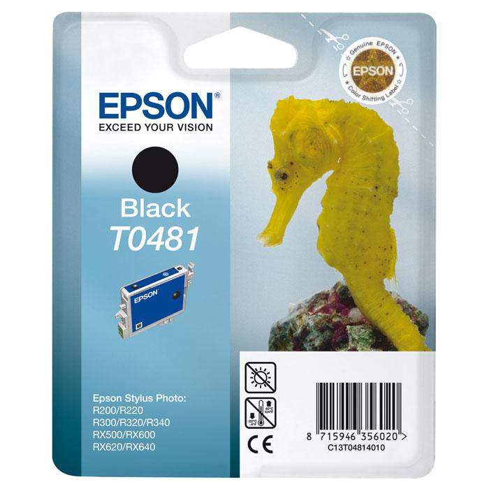 Epson T0481 (C13T04814010), Black картридж для R200/R300/RX500/RX600C13T04814010Картридж Epson T048 с цветными чернилами для струйной печати.