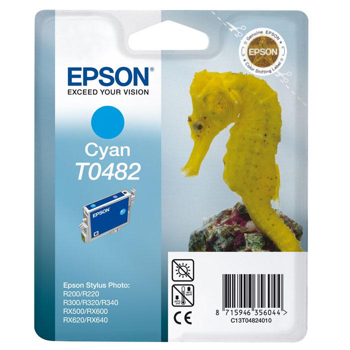 Epson T0482 (C13T04824010), Cyan картридж для R200/R300/RX500/RX600C13T04824010Картридж Epson T048 с цветными чернилами для струйной печати.