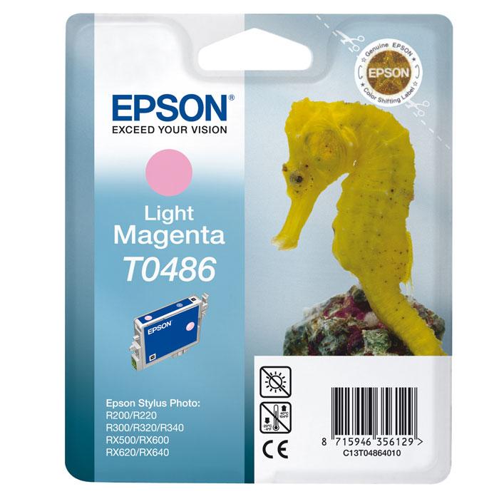 Epson T0486 (C13T04864010), Light Magenta картридж для R200/R300/RX500/RX600C13T04864010Картридж Epson T048 с цветными чернилами для струйной печати.
