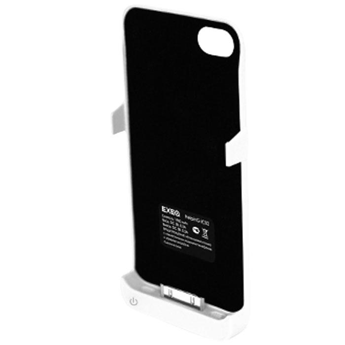 EXEQ HelpinG-iC02 чехол-аккумулятор для iPhone 4/4S, White (1900 мАч, клип-кейс)HelpinG-iC02 WHExeq HelpinG-iC02 уникальное устройство, идеально сочетающее в себе дополнительную батарею для iPhone 4S и 4 и компактный пластиковый чехол. Благодаря специальной конструкции HelpinG-iC02 прекрасно защитит заднюю панель смартфона от загрязнений и царапин, а благодаря встроенному аккумулятору позволит увеличить время работы вашего смартфона в 2 раза! Конструкция чехла-аккумулятора выполнена в миниатюрном форм-факторе - надежная защита задней панели и удачное боковое крепление смартфона в чехле. Благодаря такой конструкции и небольшому весу чехол не значительно увеличит габариты вашего смартфона, но при этом обеспечит его второй батареей. Exeq HelpinG-iC02 станет просто незаменимым аксессуаром для самых активных пользователей смартфонов и для тех, кто много времени проводит в дороге. Для зарядки телефона от сети, его совсем не нужно извлекать из чехла HelpinG-iC02 - просто подсоедините зарядное устройство от телефона к чехлу и нажмите кнопку питания на чехле - телефон начнет заряжаться. Если кнопку питания не нажимать, то будет происходить зарядка чехла-аккумулятора. Уровень заряда чехла-аккумулятора демонстрируется при помощи четырех индикаторов заряда.Время зарядки чехла: 2,2 часаИндикатор заряда батареиПодставкаТип конструкции: клип-кейсМатериал: пластик