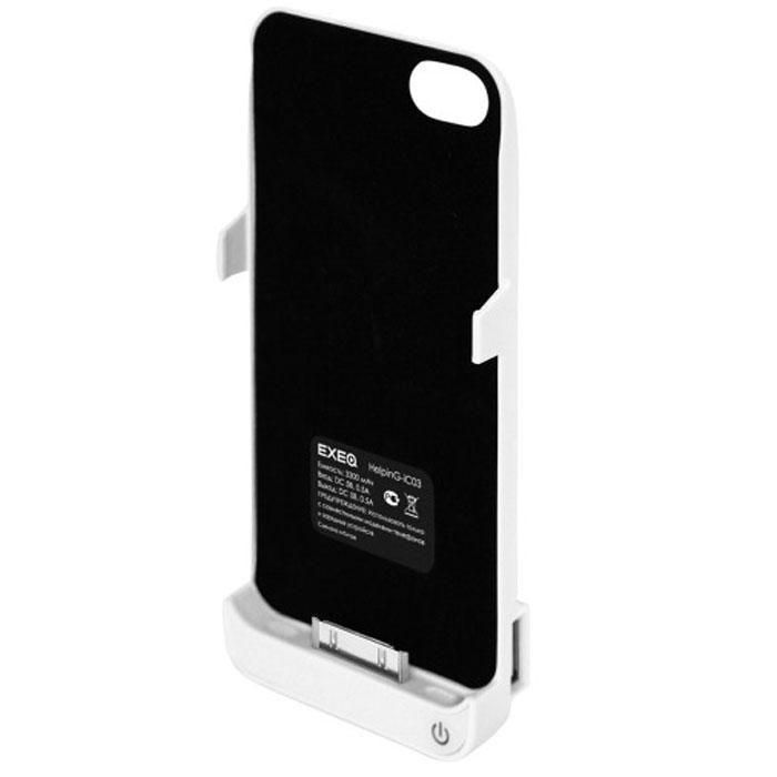 EXEQ HelpinG-iC03 чехол-аккумулятор для iPhone 4/4S, White (3300 мАч, USB-порт, клип-кейс)HelpinG-iC03 WHExeq HelpinG-iC03 – мощный чехол-аккумулятор для iPhone 4S и 4 с возможностью подзарядки других электронных устройств. Компактный чехол HelpinG-iC03 позволит надежно защитить заднюю крышку телефона от царапин и загрязнений, а мощный аккумулятор продлит часы работы вашего смартфона в несколько раз! Слушайте любимую музыку, смотрите фильмы, наслаждайтесь серфингом в интернет – с Exeq HelpinG-iC03 вам больше не придется беспокоиться о батарее вашего смартфона! Заряжается чехол-аккумулятор от зарядного устройства телефона, причем заряжать оба устройства можно не извлекая телефон из чехла. Так для зарядки чехла-аккумулятора просто подсоедините зарядное устройства к чехлу, а для зарядки телефона, подсоедините зарядное устройство и нажмите кнопку питания на чехле. Также чехол-аккумулятор HelpinG-iC03 оснащен USB-портом – емкости устройства хватит и для подзарядки дополнительных электронных устройств. Exeq HelpinG-iC03 – надежная защита и своевременная подзарядка!