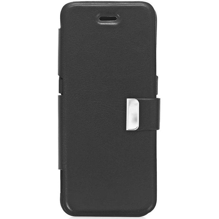 EXEQ HelpinG-iF06 чехол-аккумулятор для iPhone 5/5s/5c, Black (4300 мАч, USB-порт, флип-кейс)HelpinG-iF06 BLExeq HelpinG-iF06 - элегантный и мощный чехол-аккумулятор для iPhone 5, 5s, 5c с крышкой для защиты экрана. Чехол оборудован встроенным аккумулятором, что позволит увеличить часы работы вашего смартфона в 4 раза! Exeq HelpinG-iF06 прекрасно подойдет не только активным пользователям iPhone 5, 5s, 5c, но и тем, кто любит много путешествовать со своим смартфоном - мощный аккумулятор обеспечит своевременную подзарядку, а элегантная и практичная конструкция чехла надежно защитит телефон от внешних воздействий. Кроме того, мощной батареи чехла-аккумулятора также хватит на подзарядку и других электронных устройств посредством USB-порта.Зарядка чехла-аккумулятора Exeq HelpinG-iF06 происходит от зарядного устройства телефона, причем заряжать оба устройства можно не извлекая телефон из чехла. Так для зарядки телефона необходимо подсоединить зарядное устройства к чехлу и нажать кнопку питания на чехле, а для зарядки чехла необходимо просто подсоединить зарядное устройство - и зарядка начнется автоматически.Время зарядки чехла: 3,5 часаПодставкаUSB-портТип конструкции: флип-кейсМатериал: пластик