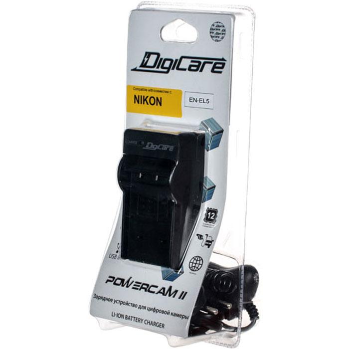 DigiCare Powercam II зарядное устройство для Nikon EN-EL5PCH-PC-NEL5Зарядное устройство DigiCare Powercam II применяется для восстановления заряда аккумулятора Nikon EN-EL5. Оно может подключаться как к сети переменного тока, так и к гнезду прикуривателя автомобиля через адаптер с разъемом microUSB.